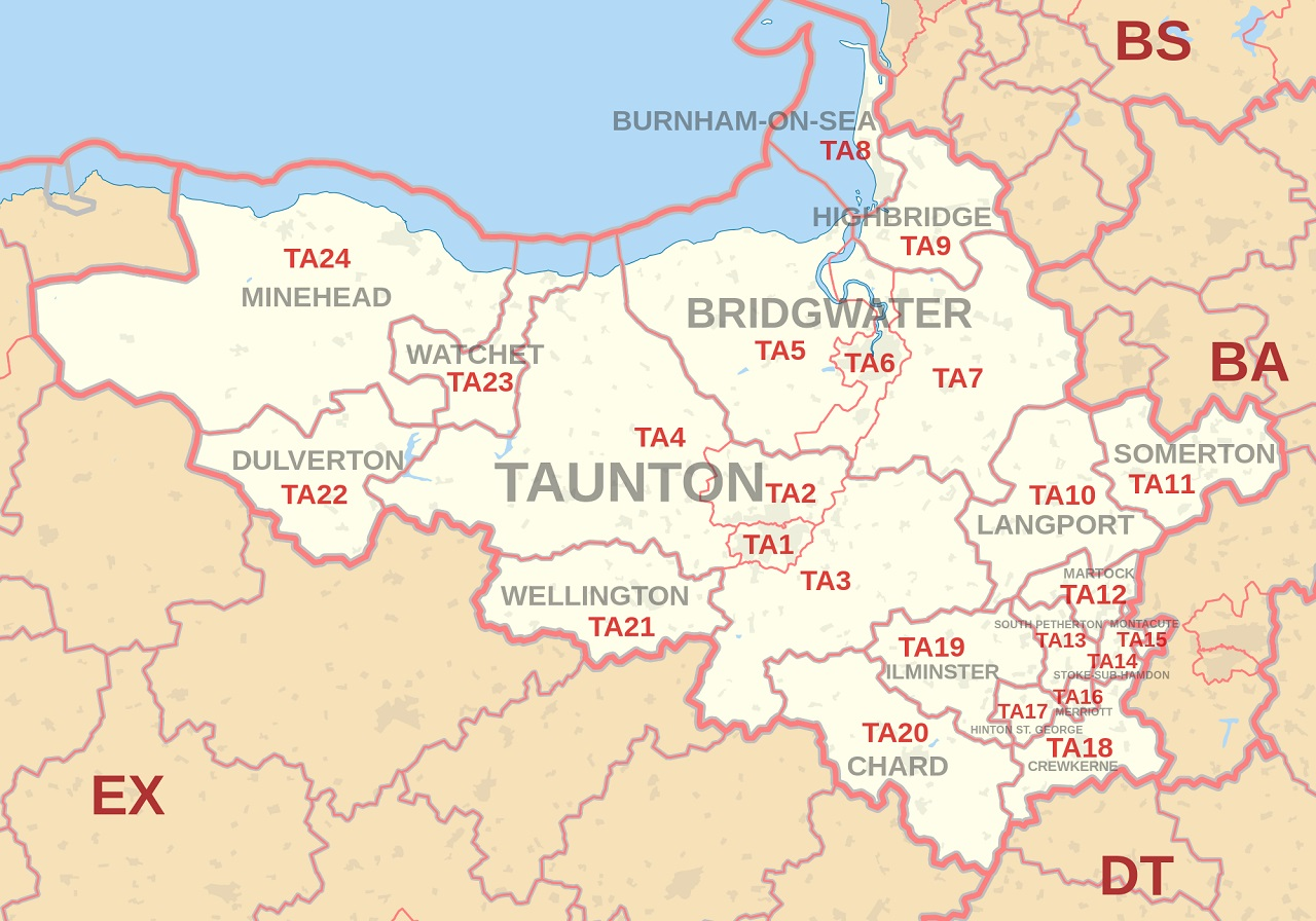 Map Of Taunton Map of Taunton